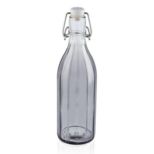 Leifheit 36321 Glazen Facetfles 0.5L Transparant/Grijs