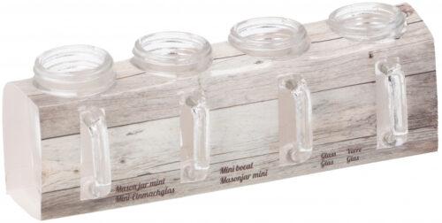 5x6 cm glas transparant 4 stuks