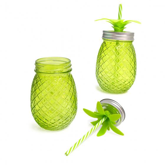 2 cm glas groen 2 stuks
