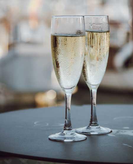 champagneglas-flutes