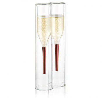 champagneglazen 100 ml glas transparant 2 stuks
