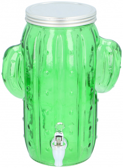 9 liter glas 29 cm groen