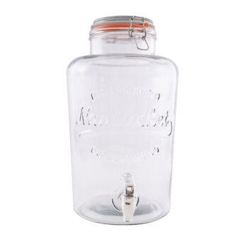 glazen pot met kraan 8 liter