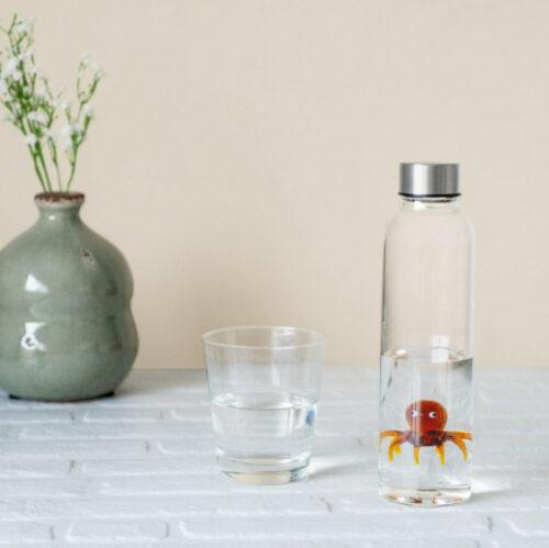 5 cm glas transparant/bruin