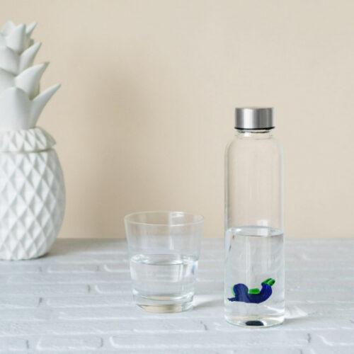 5 cm glas transparant/blauw