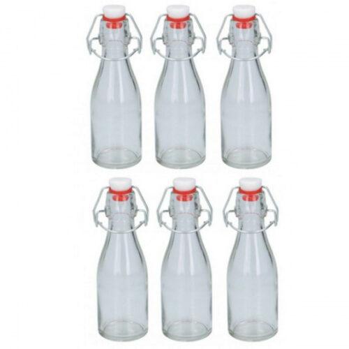 olie/azijnfles 800 ml 6 stuks transparant