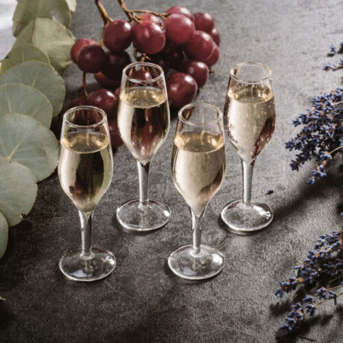 shotglazen Champagne 35 ml glas transparant 4 stuks