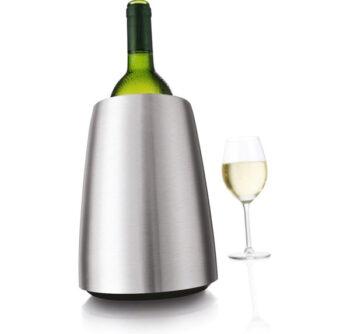 vacuvin wijnkoeler zilver