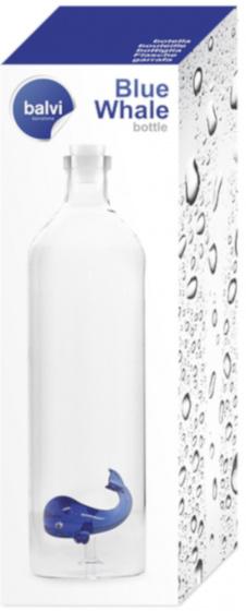 2 liter glas transparant/blauw