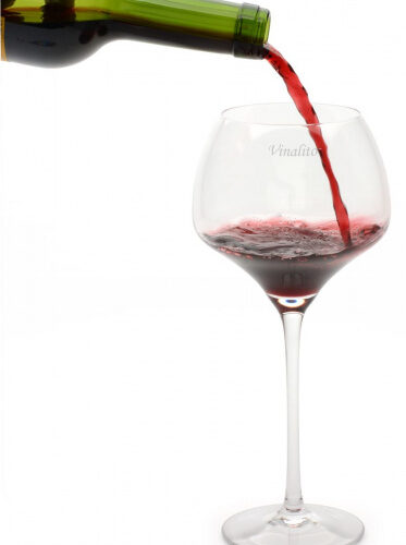 wijnglazen 550 ml kristalglas transparant 2 stuks